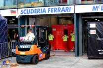 The Pit for the Scuderia Ferrari