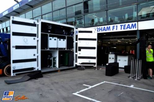 The Pit for the Caterham F1 Team