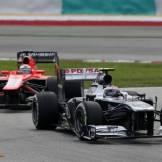 Valtteri Bottas (Williams F1 Team, FW35) and Jules Bianchi (Marussia F1 Team, MR02)
