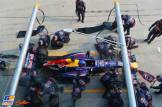 Pit Stop for Sebastian Vettel (Red Bull Racing, RB9)