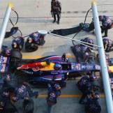 Pit Stop for Sebastian Vettel (Red Bull Racing, RB9)