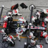 Pit Stop for Sergio Pérez, McLaren Mercedes, MP4-28