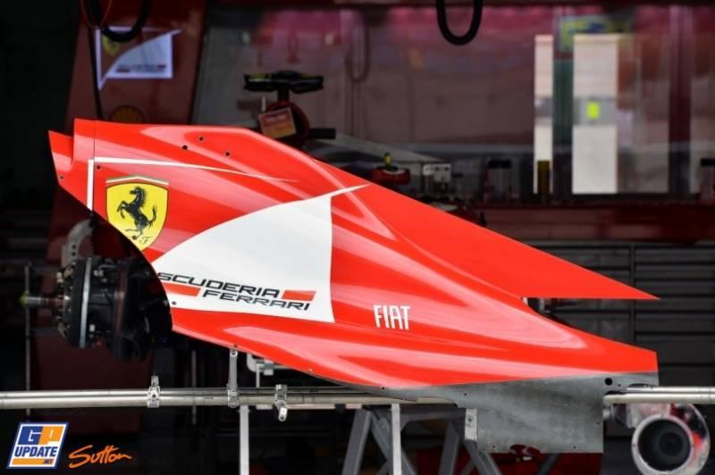 Engine Covers for the Scuderia Ferrari F138