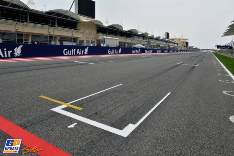 The Main Straight on the Bahrain International Circuit