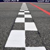 The Finish Line on the Bahrain International Circuit