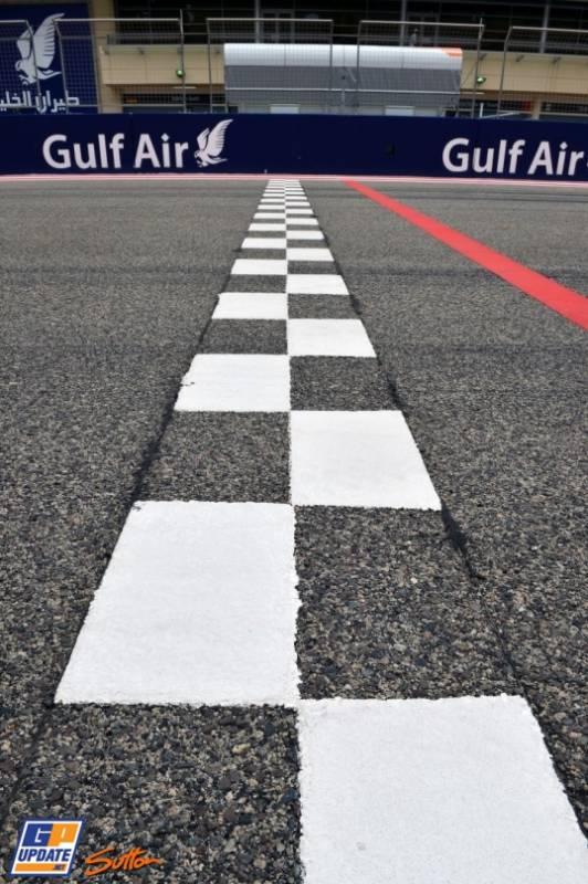 The Finish Line on the Bahrain International Circuit