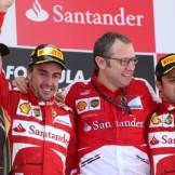 The Podium : Second Place Kimi Räikkönen (Lotus F1 Team), Race Winner Fernando Alonso (Scuderia Ferrari), Stefano Domenicali (Scuderia Ferrari) and Third Place Felipe Massa (Scuderia Ferrari)