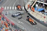 Pastor Maldonado (Williams F1 Team, FW35) Crashes and Max Chilton and Jules Bianchi from Marussia F1 Team (MR02)