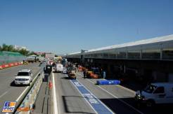The Pits on the Circuit Gilles Villeneuve