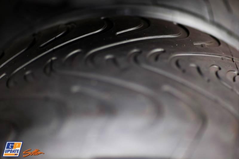 Detail of the Pirelli P Zero Tyres