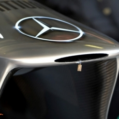 Detail of the Front Wing for the Mercedes AMG F1 Team F1 W04