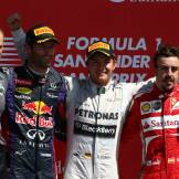 Mark Webber (Red Bull Racing), Nico Rosberg (Mercedes AMG F1 Team) and Fernando Alonso (Scuderia Ferrari)