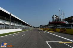 The Start and Finish Straight, with the Pit Lane and the Podium