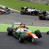 The Crash of Paul di Resta, Force India F1 Team, VJM06
