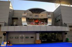 The Podium in the Pit Lane