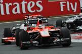Jules Bianchi (Marussia F1 Team, MR02) and Jenson Button (McLaren Mercedes, MP4-28)