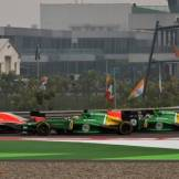 Max Chilton and Jules Bianchi (Marussia F1 Team, MR02) and Giedo van der Garde and Charles Pic (Caterham F1 Team, CT03)