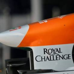 A detail of the Force India F1 Team VJM06
