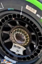 A detail of the Pirelli P Zero Tyre