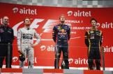 The Podium : Adrian Newey (Red Bull Racing), Nico Rosberg (Mercedes AMG F1 Team), Sebastian Vettel (Red Bull Racing) and Romain Grosjean (Lotus F1 Team)