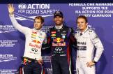 Sebastian Vettel (Red Bull Racing), Mark Webber (Red Bull Racing) and Nico Rosberg (Mercedes AMG F1 Team)