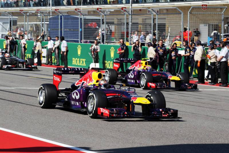 Sebastian Vettel and Mark Webber (Red Bull Racing, RB9)