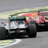 Lewis Hamilton (Mercedes AMG F1 Team, F1 W04) and Felipe Massa (Scuderia Ferrari, F138)