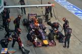 Pit stop for Sebastian Vettel (Red Bull Racing, RB10)