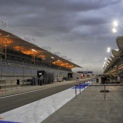 The Pit Lane on the Bahrain International Circuit