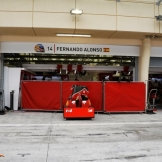The Pit Box for Fernando Alonso