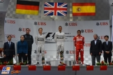 The Podium : Second Place Nico Rosberg, Race Winner Lewis Hamilton and Third Place Fernando Alonso