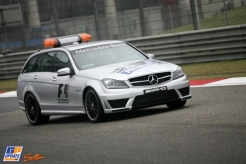 A Mercedes AMG Safety Car