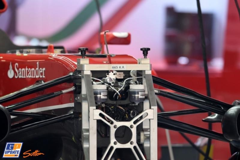 A Detail of the Scuderia Ferrari F14 T