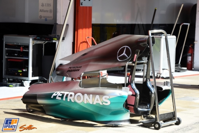 Body Work for the Mercedes AMG F1 Team F1 W05