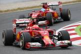 Kimi Räikkönen and Fernando Alonso (Scuderia Ferrari, F14 T)
