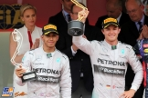 Second Place Lewis Hamilton and Race Winner Nico Rosberg