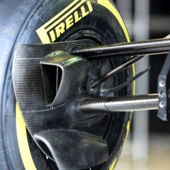 A Pirelli P Zero Tyre on a F1 Car