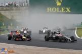 Jenson Button (McLaren Mercedes, MP4-29) and Daniel Ricciardo (Red Bull Racing, RB10)