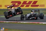 Pastor Maldonado (Lotus F1 Team, E22) and Esteban Gutiérrez (Sauber F1 Team, C33)