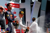 The Podium : Third Place Daniel Ricciardo and Second Place Valtteri Bottas
