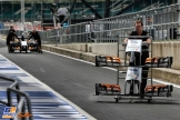 The Force India F1 Team in the Pits