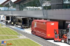Trucks in the Pit Lane