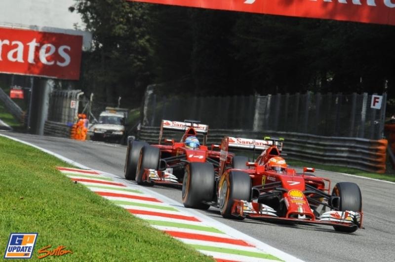 Kimi Räikkönen and Fernando Alonso, Scuderia Ferrari, F14 T