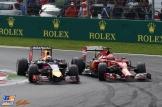 Daniel Ricciardo (Red Bull Racing, RB10) and Kimi Räikkönen (Scuderia Ferrari F14 T)