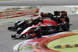 Jules Bianchi (Marussia F1 Team, MR03) and Romain Grosjean (Lotus F1 Team, E22)