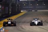 Sergio Perez (Force India F1 Team, VJM07) and Valtteri Bottas (Williams F1 Team, FW36)