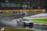 The Safety Car is leading the field