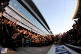 Mercedes AMG F1 Team celebrating their first Formula 1 Constructor's Championship as Mercedes