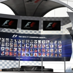 The Podium for Sochi Autodrom