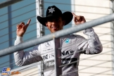 Lewis Hamilton (Mercedes AMG F1 Team) celebrating his Race Win
